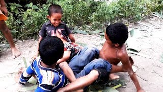 WWE Funny Village Little Boy Fight | Amazing Boys are Playing WWE Game in Village