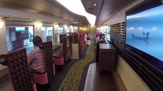 JR西日本 七尾線観光列車 花嫁のれん 車内  Hanayome Noren Tourist Train 特急花嫁暖簾列車