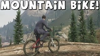 Grand Theft Auto 5 | Mountain Bike | Climbing Mt Chiliad