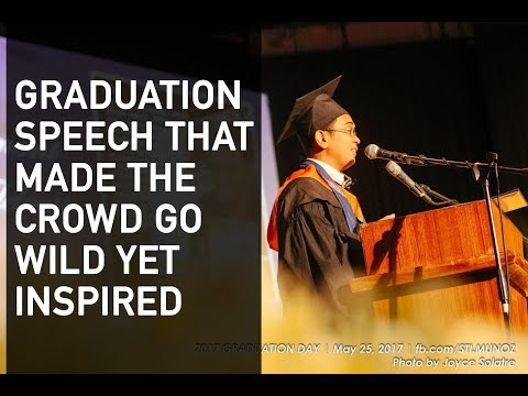 Filipino Best Graduation Speech Lloyd Luna Funny Motivational Commencement Speaker Philippines