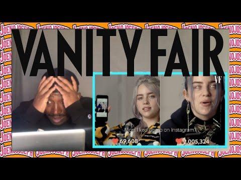 Reaction To Billie Eilish - Same Interview 1 Year Apart *Vanity Fair