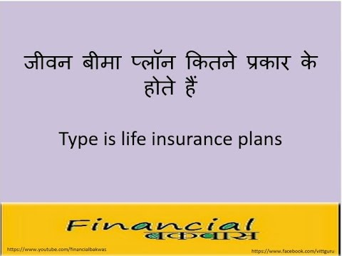जीवन बीमा प्लॉन कितने प्रकार के होते हैं  Types of life insurance plans