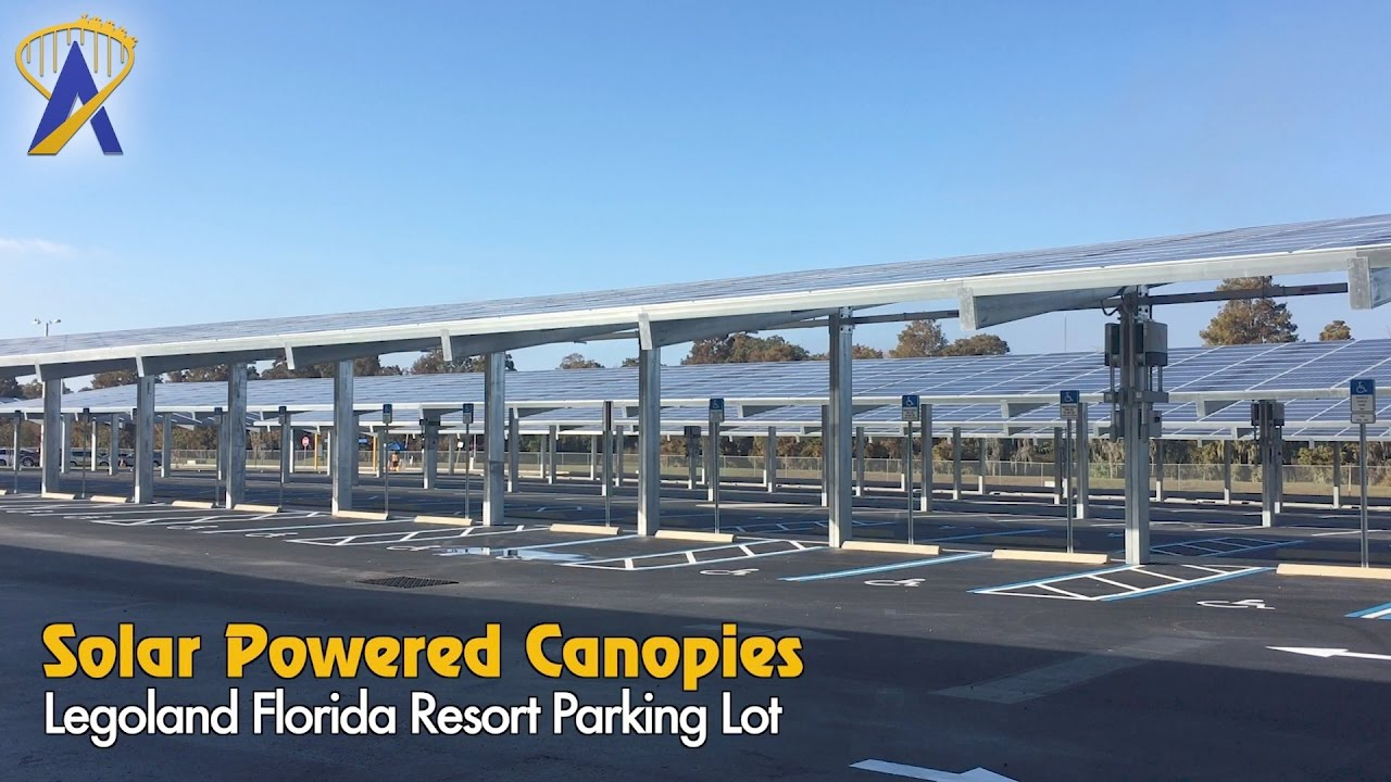 T&a Electric solar canopies added to Legoland Florida parking lot & Tampa Electric solar canopies added to Legoland Florida parking ...