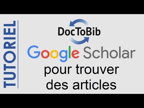 Google Scholar Pour Trouver Des Articles 2019 Youtube