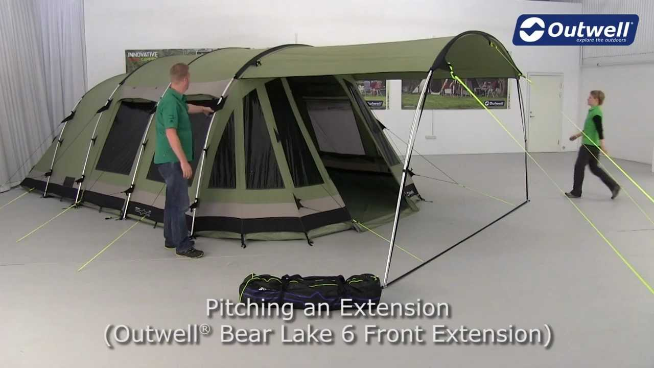 Outwell Tent Bear Lake 6 Extension - YouTube