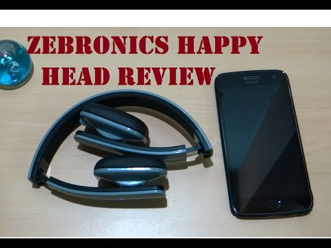 Zebronics Happy Head Bluetooth headphone Unboxing and overview