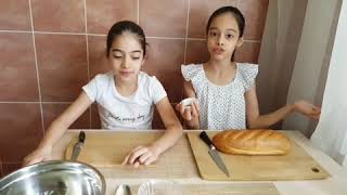 Сухарики для салата ЦЕЗАРЬ❤#готовимссестрой#любимготовить#вкуснаякухня#
