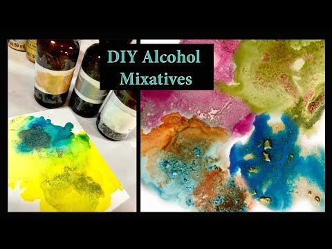 DIY Metallic Alcohol Inks