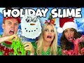 Holiday Slime DIY Christmas Slime Challenge. Totally TV