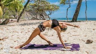 Intermediate Yoga  ♥ Stress Release Flow | Playa Barrigona