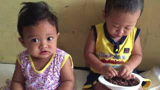 Nyobain Choco Chips Baby Ali Icel Rebutan Dua Bayi Lucu Rebutan Makanan