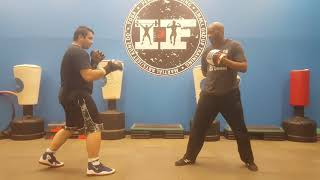 Chris working on a new combo at Indomitable Fitness and Martial Arts