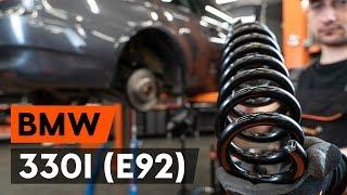 Монтаж на задни ляво дясно Пружинно окачване на BMW 3 Coupe (E92): безплатно видео