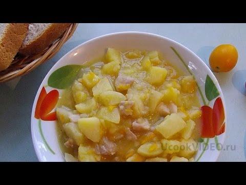 Тушеная картошка в мультиварке с курицей видео