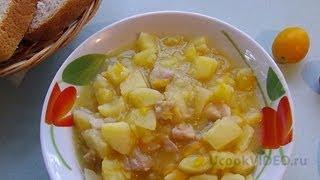 Тушеный картофель с курицей видео рецепт UcookVideo.ru