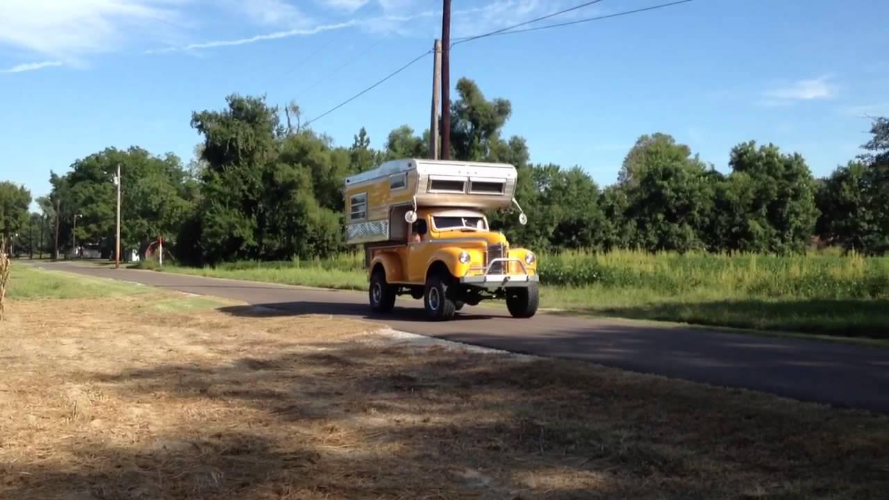 1947 International Truck >> 1947 international pickup custom rat rod - YouTube