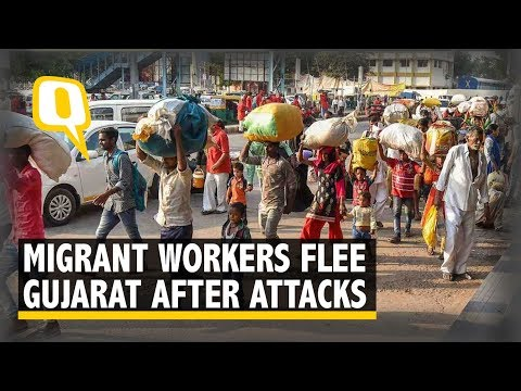 Migrant Workers in Gujarat Flee As Mobs Seek Vendetta for Minor's Rape | The Quint