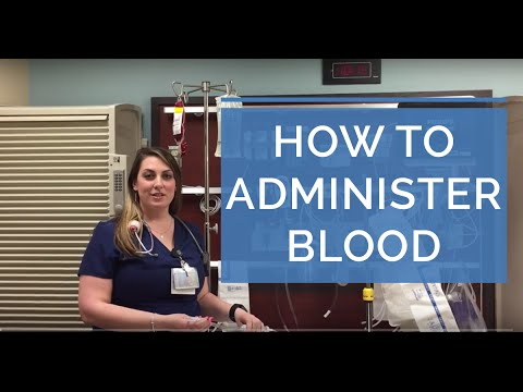 HOW TO ADMINISTER A BLOOD TRANSFUSION (LIVE DEMO) - Giving Blood as a Nurse