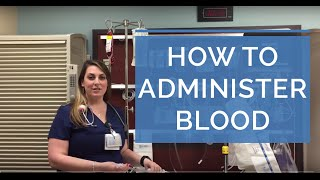 HOW TO ADMINISTER A BLOOD TRANSFUSION LIVE DEMO Giving Blood as a Nurse