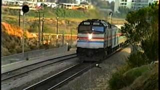San Diego_(1990) Amtrak San Diegans With F40PH