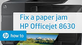Clearing a Paper Jam Error on the HP Officejet 6810
