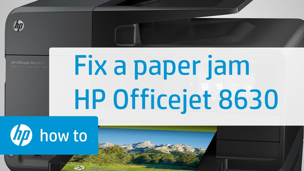 Fixing a Paper Jam on the HP Officejet 8630 | HP Officejet Printer | HP