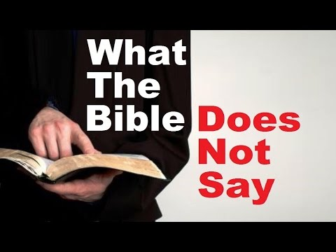 Image result for what the Bible doesn't say