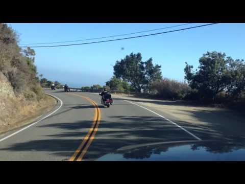Following bikers in Big Sur