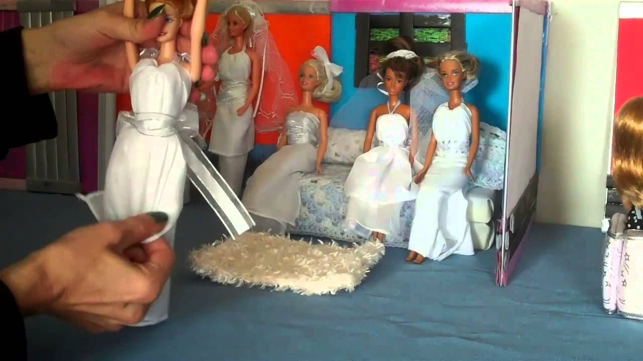 How To Make A Doll Wedding Dress Super Easy