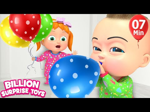 Kids Balloon Song  | BillionSurpriseToys Nursery Rhyme & Kids Songs