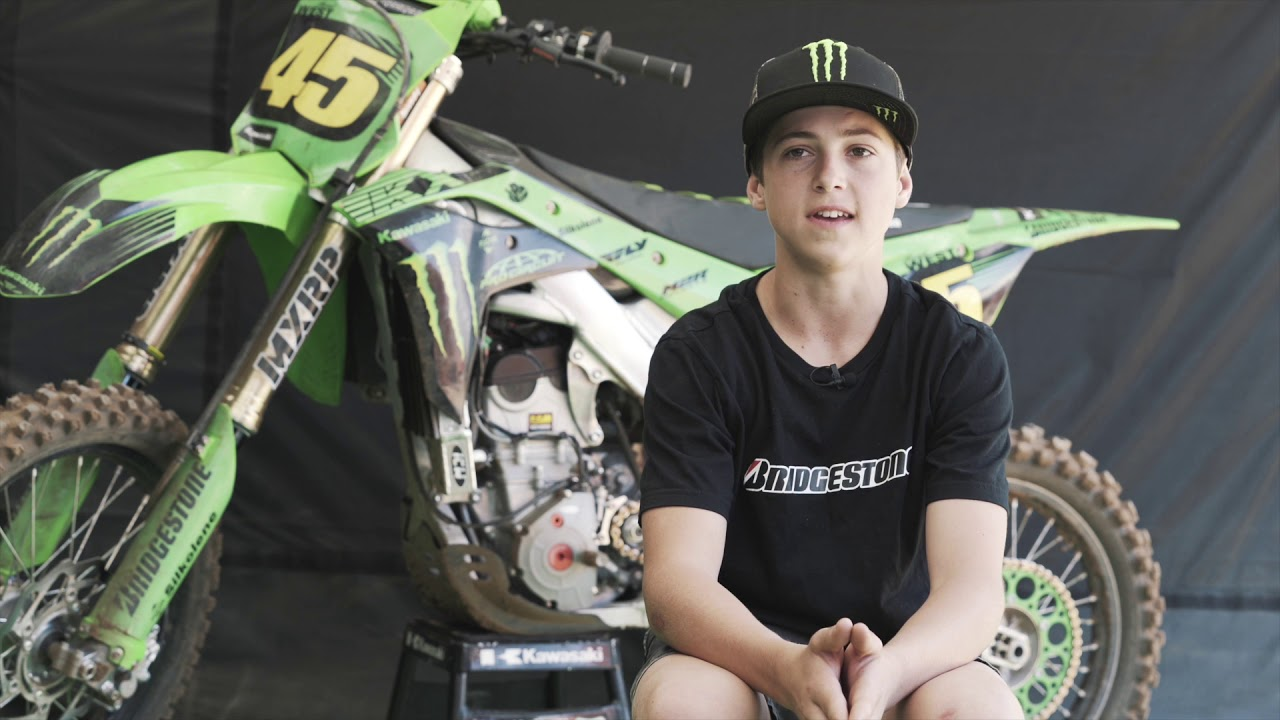 Brad West takes on AJMX in Junior Lites - 13-U15 250cc 4stroke onboard Kawasaki KX250