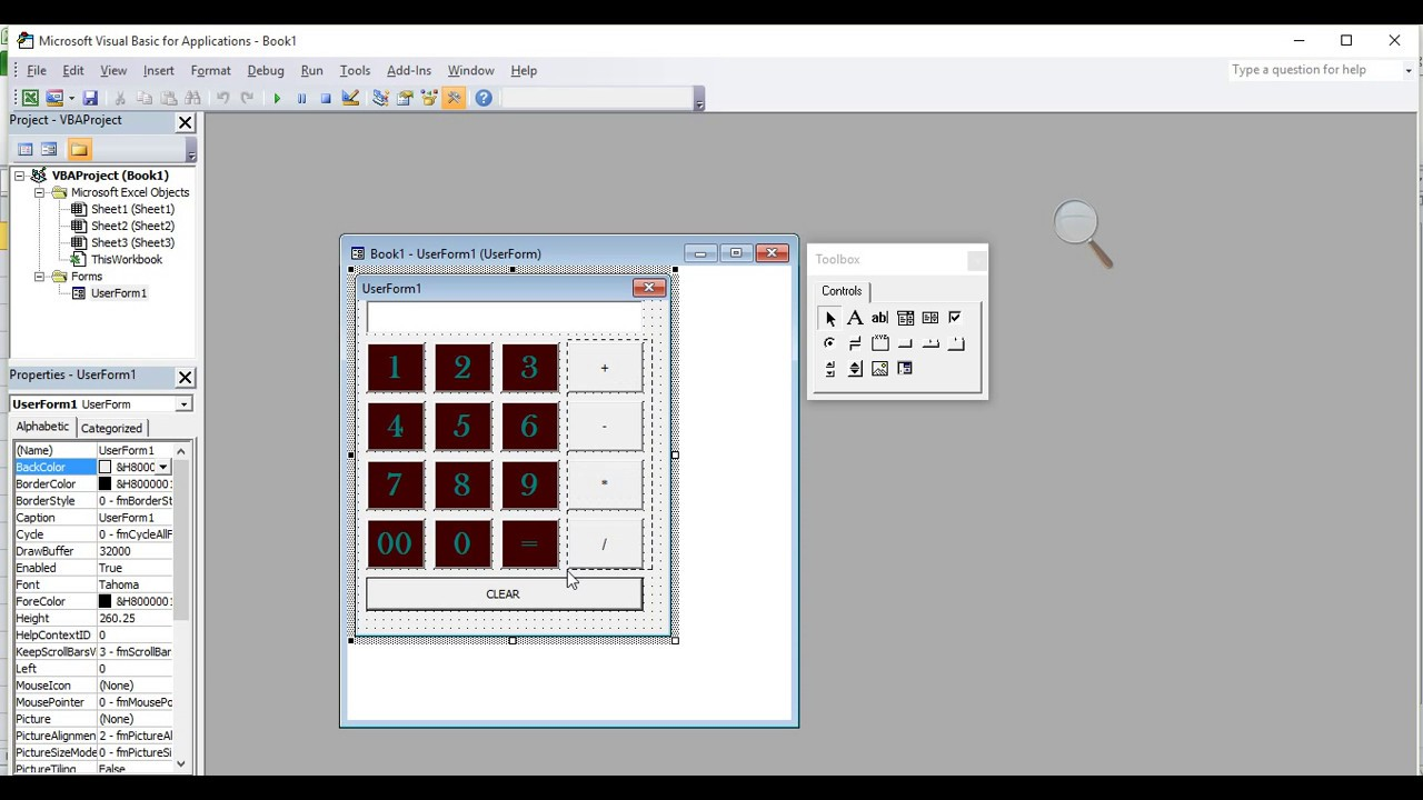 How to make Calculator in VBA Excel In Hindi Part 1 VedantSri