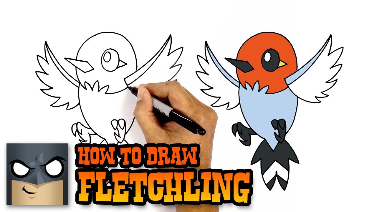 How To Draw Fletchling Pokemon Awesome Step By Step Tutorial
