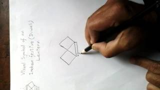 How to draw the visual symbol of Indian festive or Diwali lntern