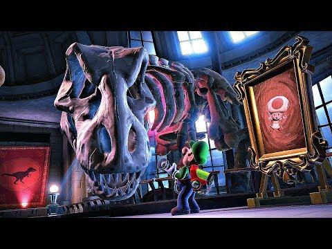 Luigi Vs. T-Rex Boss Fight (Luigi's Mansion 3)