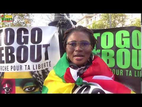 #TogoDebout Togo Steh Auf! Laufe für dieme lande von Bastille nach République