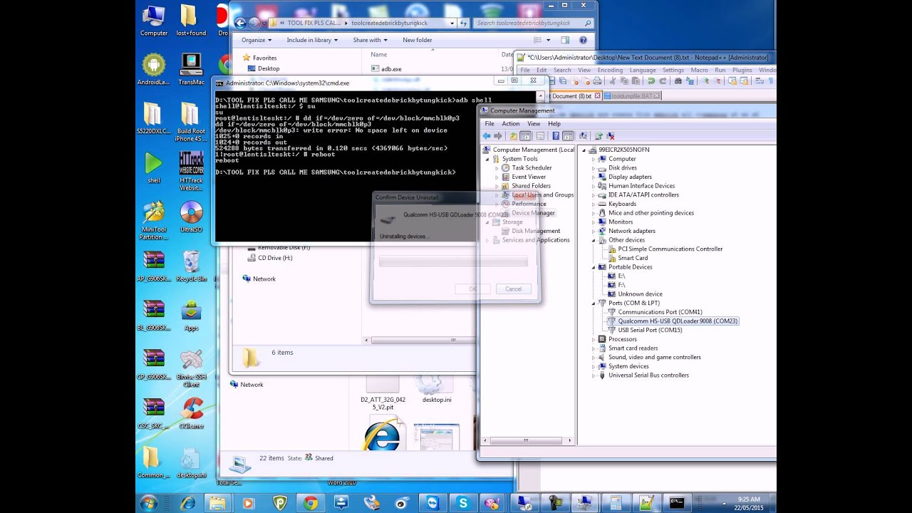 How to repair Samsung S3 SCH-i535 Qdloader 9008 by Brutal Panda