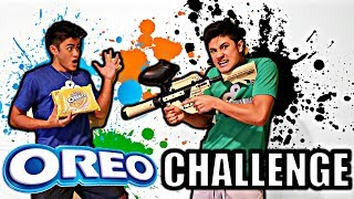 OREO TASTE TEST CHALLENGE**LOSER SHOT WITH PAINTBALL GUN**