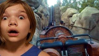 Seven Dwarfs Mine Train Ride! Disney Magic Kingdom POV