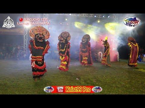 BARONGAN GALAK BERINGAS..!!!  RAMPOKAN SINGO BARONG#1 Jaranan SUROJOYO 1231  Live LAP  GAJAHMADA