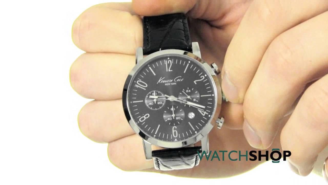a0cb38ae4bd Kenneth Cole Men s Chronograph Watch (KC10020826) - YouTube
