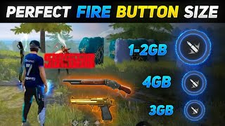 NEW ONE TAP HEADSHOT SECRET 🤫 IN FREE FIRE | PERFECT FIRE BUTTON SIZE | DRAG FIRE BUTTON TRICK IN FF