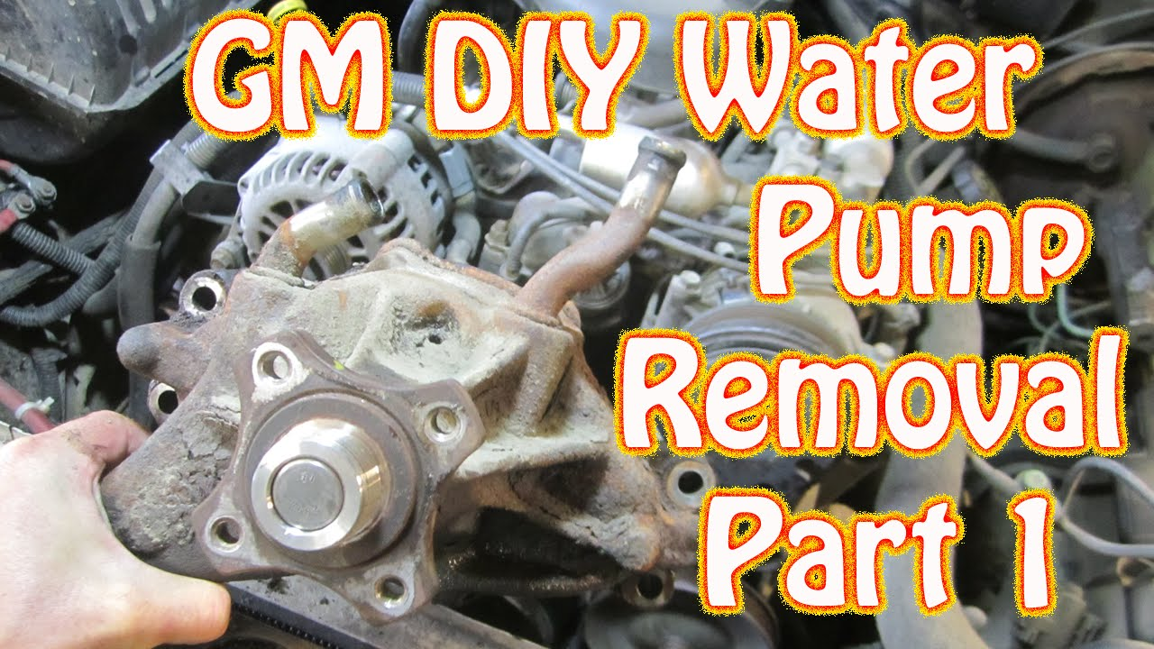 DIY  98 K1500 Silverado Vortec Water Pump Replacement  How to Remove a Water Pump  YouTube