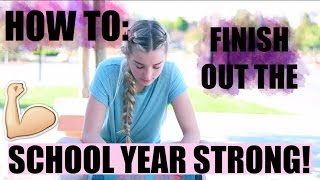 HOW TO SURVIVE THE END OF THE SCHOOL YEAR! | Avrey Ovard