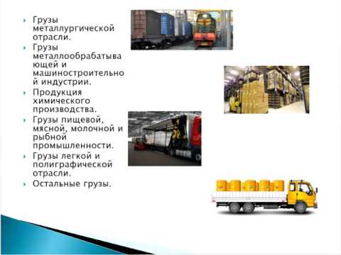 Булахтин мдк03 03 урок 1 Номенклатура грузов Понятие крупного и тяжелого грузов