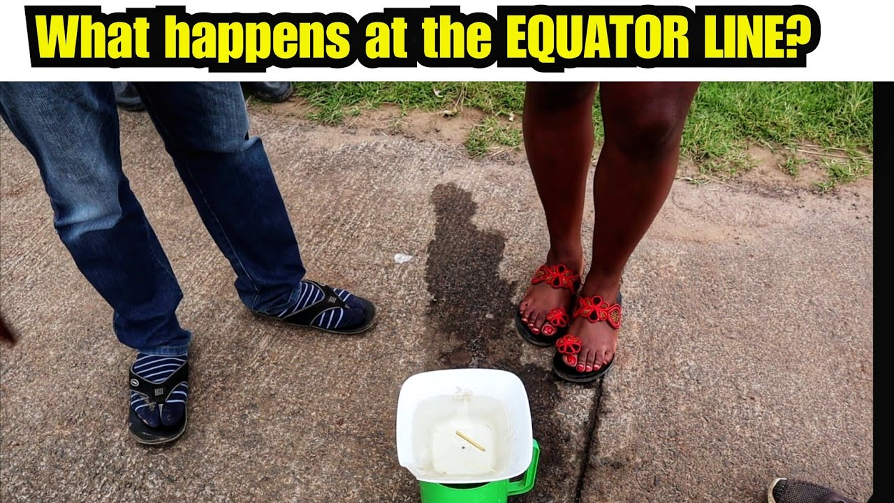 WHAT HAPPENS AT THE EQUATOR WILL SHOCK YOU/ Colioris Effect demonstration.