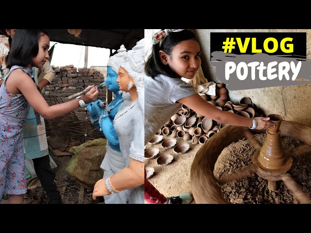 Clay pottery making VLOG | #LearnWithPari #Aadyansh @Learn With Pari