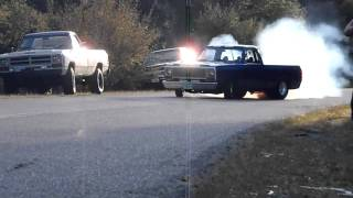 Insane Dodge 440 Burnout take 2