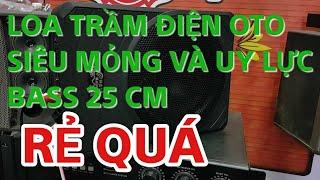 Loa sub siêu trầm điện 12v gầm ghế  bass 25 rẻ chất việt nam 1tr500 k