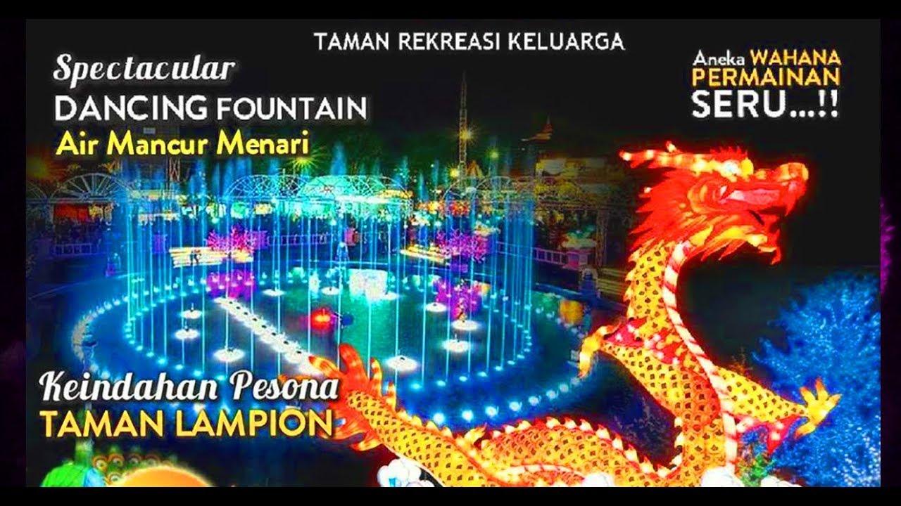 Taman Pelangi Jurug Taman Lampion Air Mancur Menari Solo Youtube